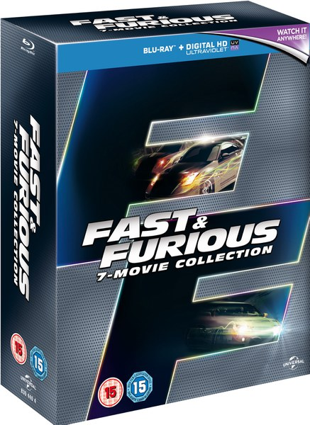 fast furious 1 7 boxset includes ultraviolet copy blu ray. Black Bedroom Furniture Sets. Home Design Ideas