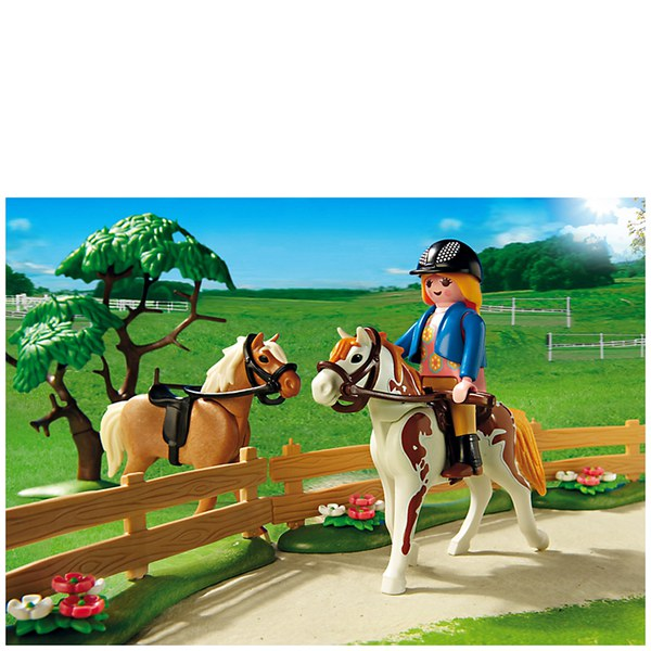 Playmobil Horse Farm Paddock With Horses And Pony 5227