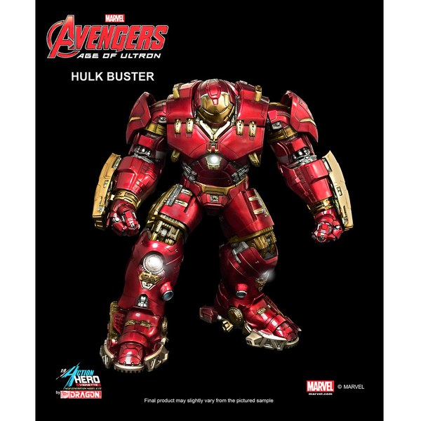 Dragon Action Heroes Marvel Avengers Age of Ultron Hulkbuster 1:9 Scale Vignette