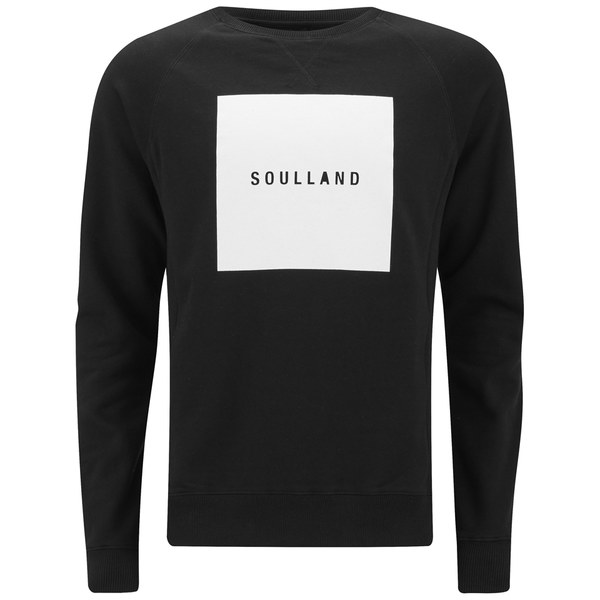 Soulland Men's Hendricks Printed Sweater - Black