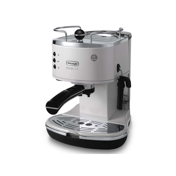 de 39 longhi icona micalite espresso coffee machine white iwoot. Black Bedroom Furniture Sets. Home Design Ideas