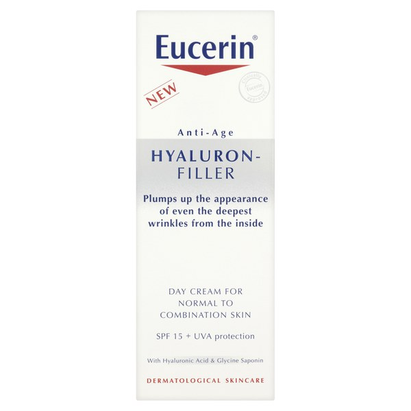 Eucerin® Anti-Age Hyaluron-Filler Day Cream for Combination to Oily Skin SPF15 + UVA Protection (50ml)