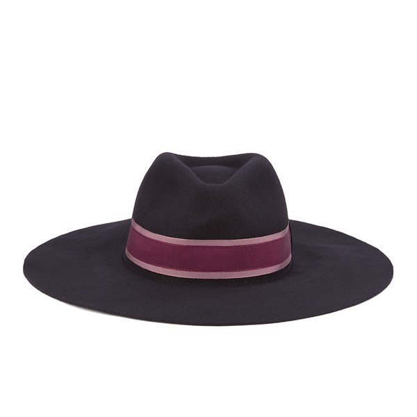 Paul Smith Accessories Women's Wool Felted Fedora Hat - Navy