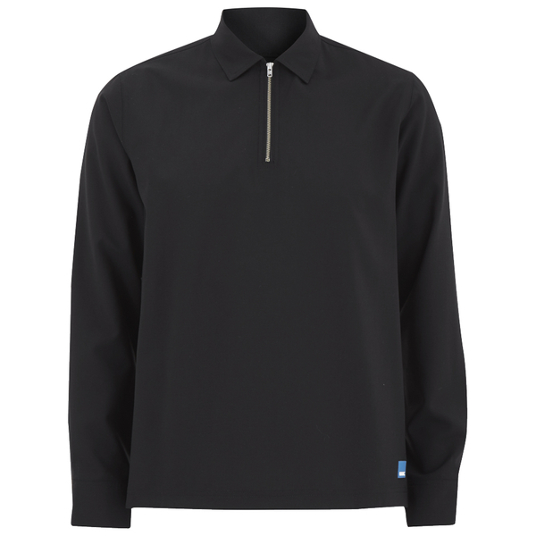 Wood Wood Men's Phillip Quarter Zip Top - Black