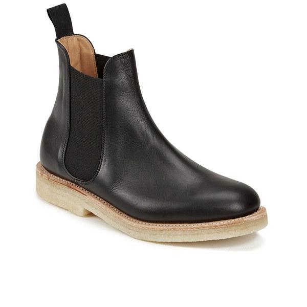 ymc s solovair leather crepe sole chelsea boots