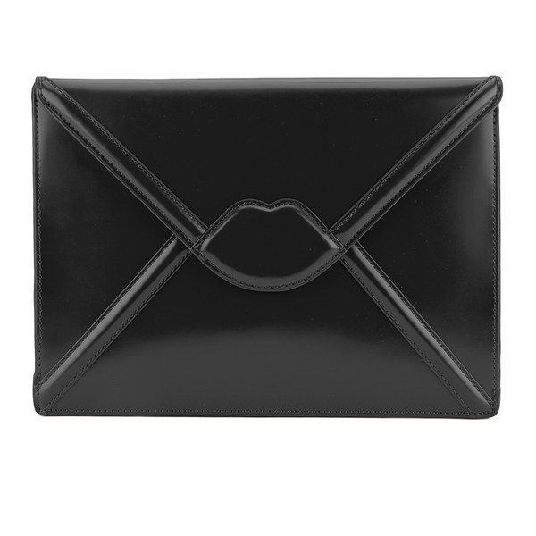 Lulu Guinness Women's Catherine Large Lips Envelope Clutch Bag - Black