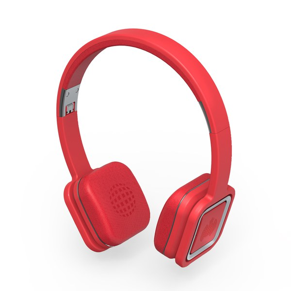 Ministry of Sound Audio On Plus, Wireless Bluetooth On Ear Headphones - Red and Gun Metal