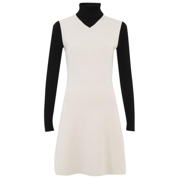Theory Women's Myrelle Dress - Ivory Ice/Black
