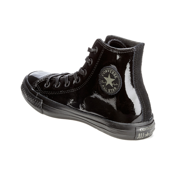 Converse White Patent Leather High Top Tennis Shoes