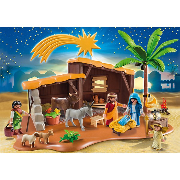 Playmobil nativity stable with manger 5588 iwoot for Salle manger playmobil