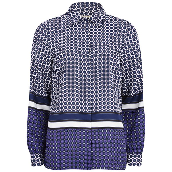 MICHAEL MICHAEL KORS Women's Durie Border Shirt - Iris/Royal Purple