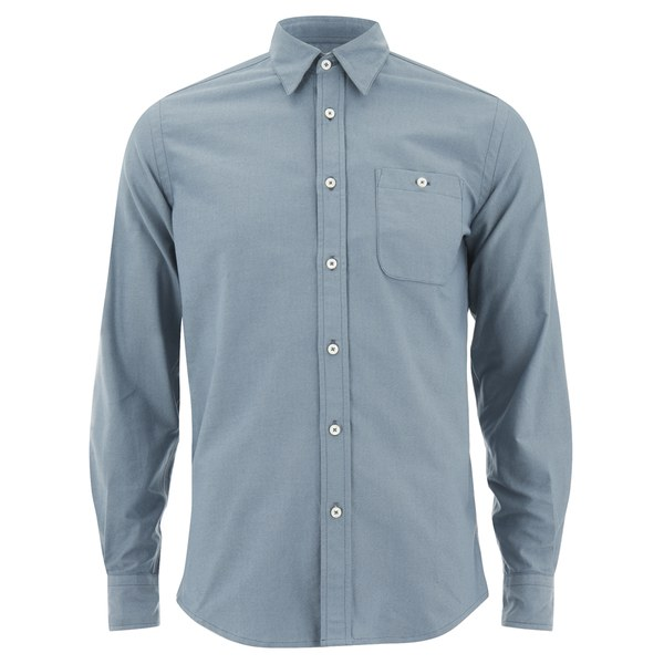 Knutsford x Tripl Stitched Men's Long Sleeve Oxford Shirt - Slate Blue
