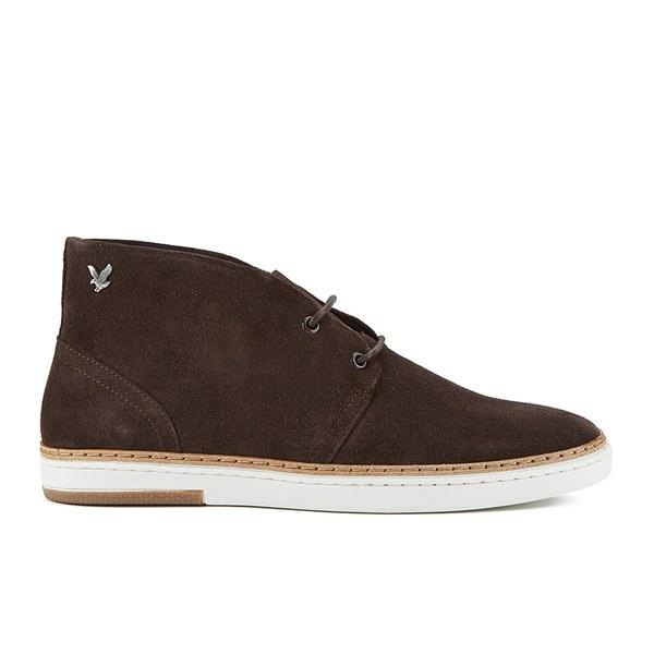 lyle s brack suede chukka boots brown