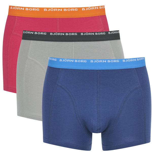 bjorn borg men 39 s triple pack boxer shorts drizzle mens underwear. Black Bedroom Furniture Sets. Home Design Ideas