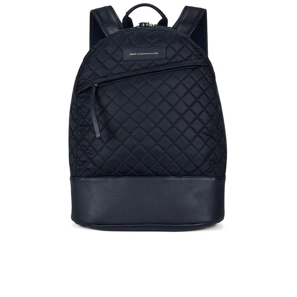 WANT LES ESSENTIELS Men's Kastrup Backpack - Navy Quilt