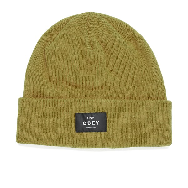 obey clothing s vernon beanie yellow free uk