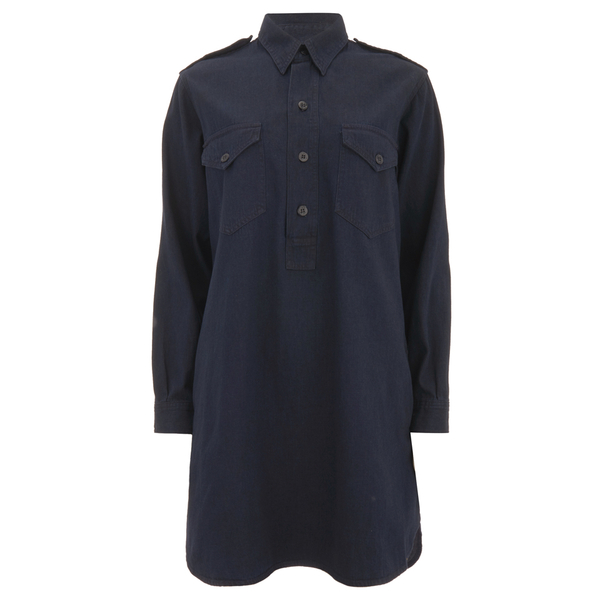 Polo Ralph Lauren Women's Military Shirt Dress - Indigo