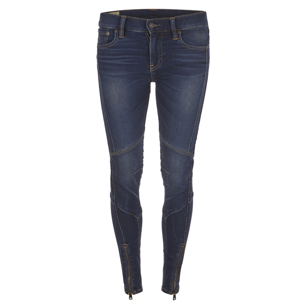 Polo Ralph Lauren Women's Moto Denim Jeans - Prospector Wash