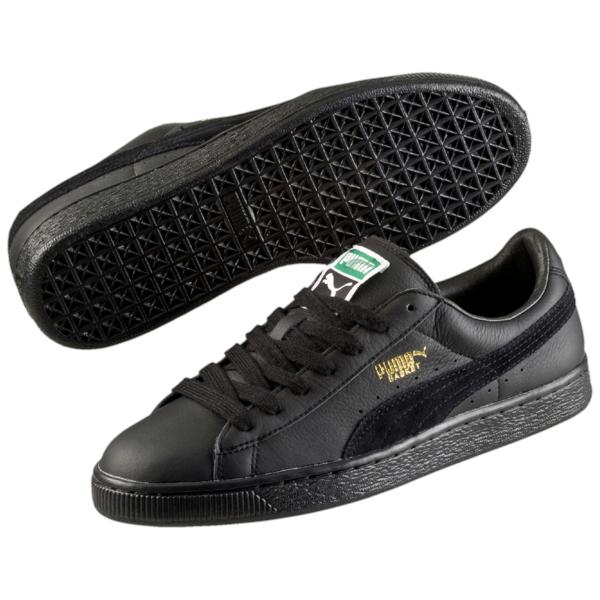 black puma trainers