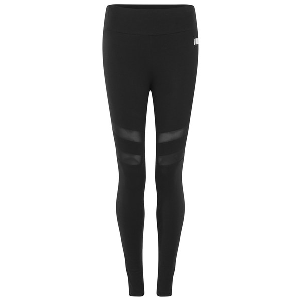 Myprotein Women's Yoga Leggings with Mesh Panels - Black: Image 01