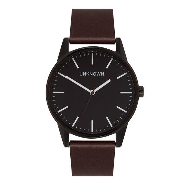 UNKNOWN Men's The Wrap Watch - Black Dial/Brown