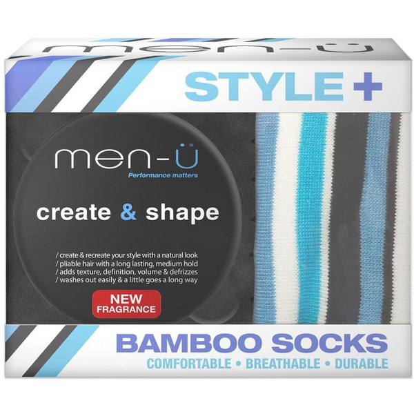 men-ü Style+ Bamboo Socks with Create and Shape Paste