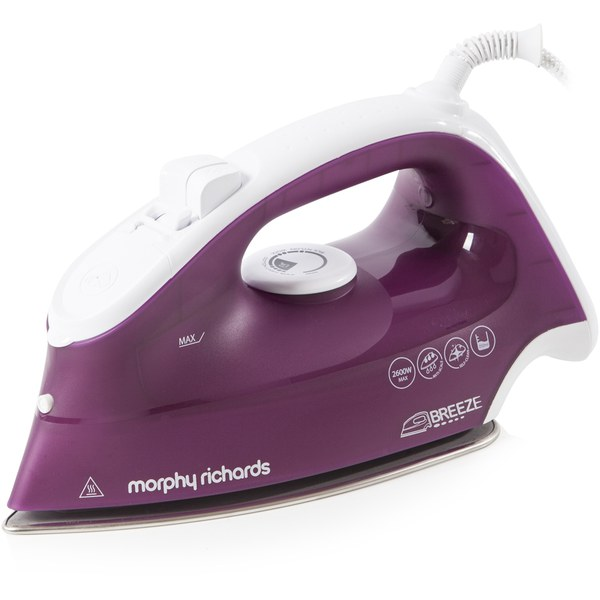 morphy richards 300255 breeze steam iron with ceramic sole. Black Bedroom Furniture Sets. Home Design Ideas