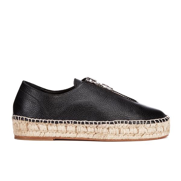 Alexander Wang Women's Devon Leather Espadrilles - Black