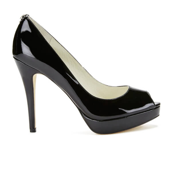 MICHAEL MICHAEL KORS Women's York Patent Peep Toe Heels - Black