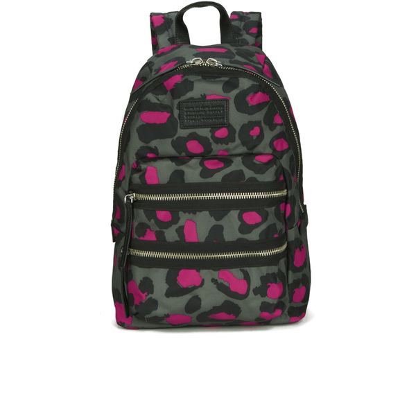 Marc by Marc Jacobs Women's Domo Arigato Printed Leopard Packrat Backpack - Raspberry: Image 01