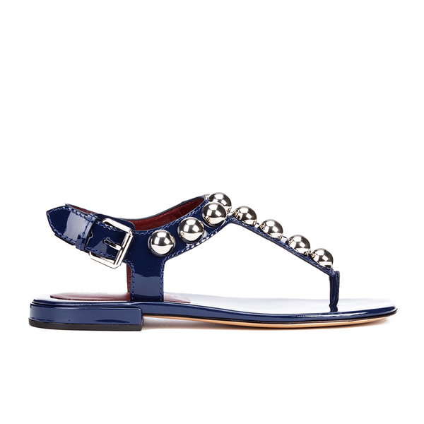 Marc by Marc Jacobs Women's Liv T Strap Leather Sandals - Navy