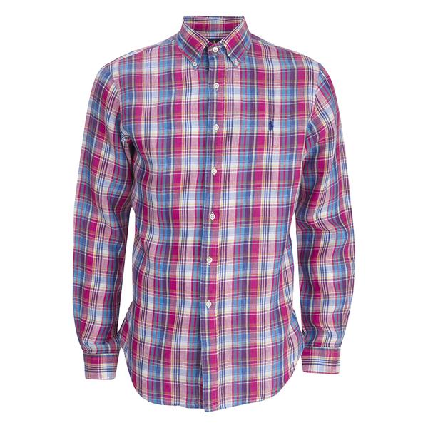 Polo Ralph Lauren Men's Checked Long Sleeve Shirt - Fuchsia