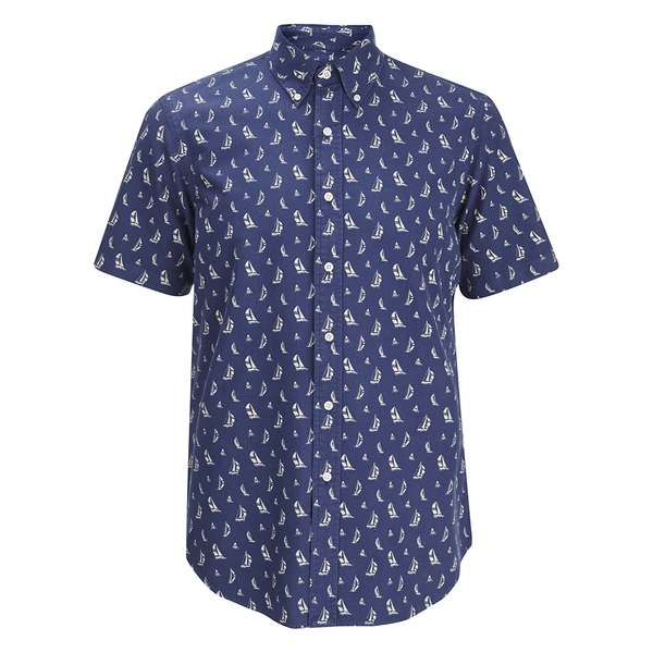 Polo Ralph Lauren Men's Printed Short Sleeve Shirt - Blue