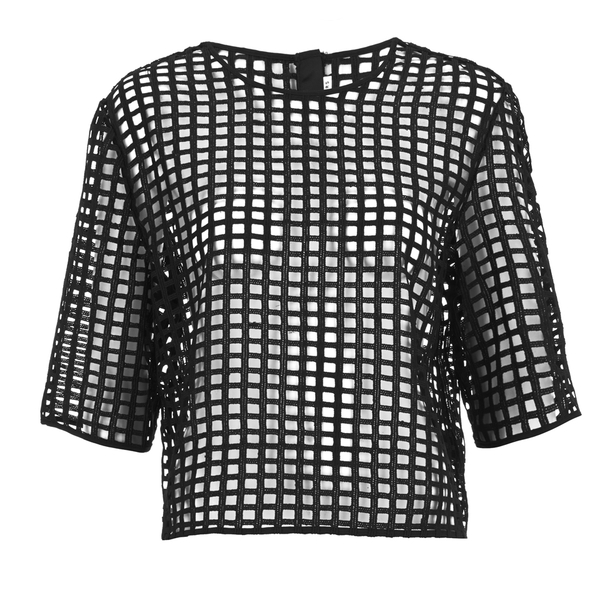 Finders Keepers Women's New Line Top - Lattice Black