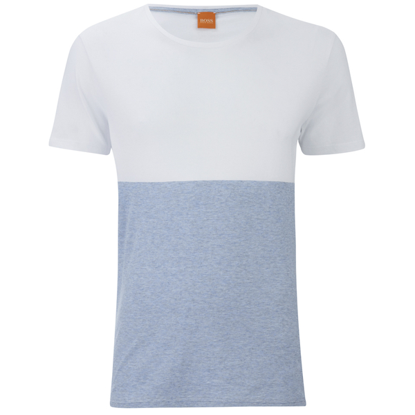 BOSS Orange Men's Tuomo Striped T-Shirt - White
