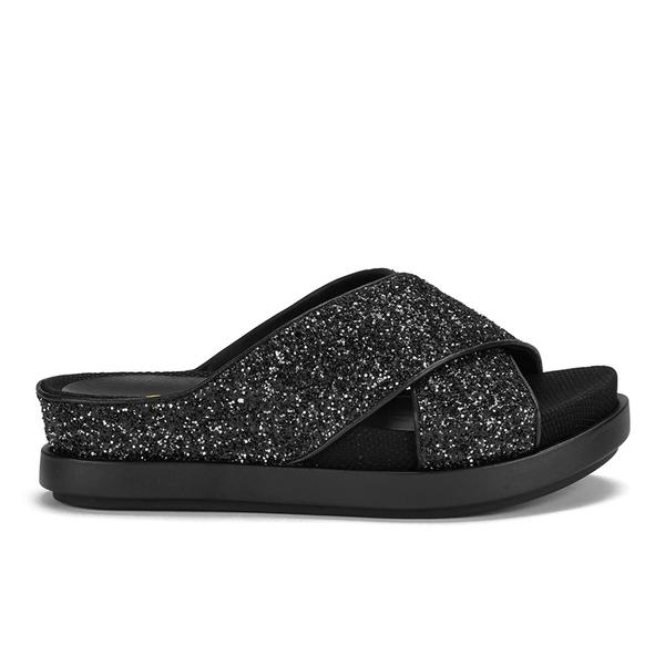 Ash Women's Secret Glitter Slide Sandals - Black/Black/Black