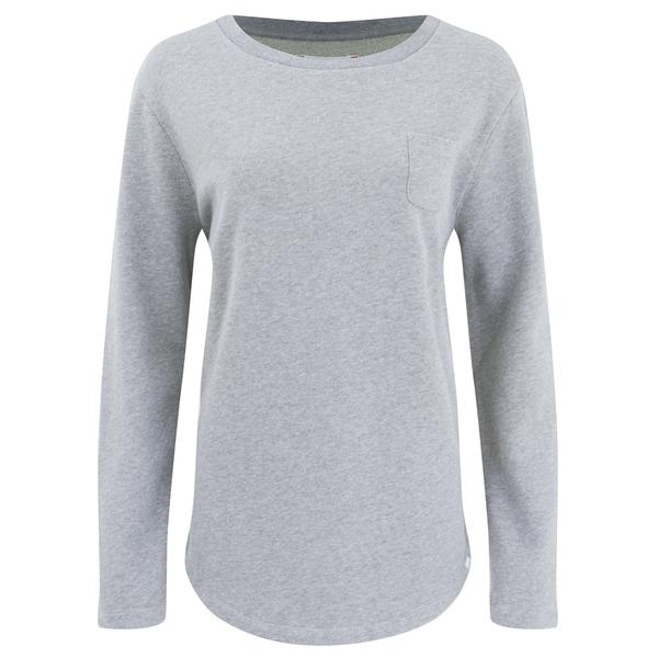 Derek Rose Women's Devon Sweat Top - Light Grey