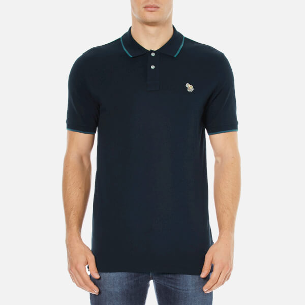 Paul Smith Jeans Men's Zebra Tipped Polo Shirt - Navy