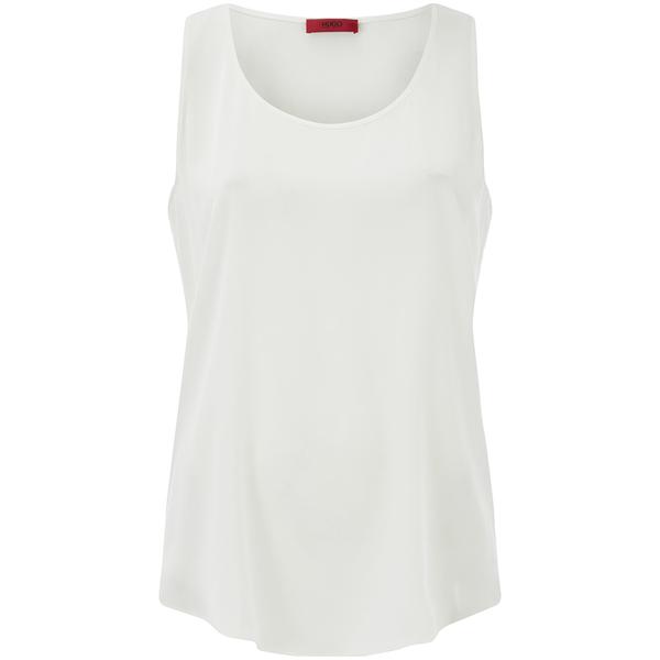 HUGO Women's Cendis Silk Vest Top - White