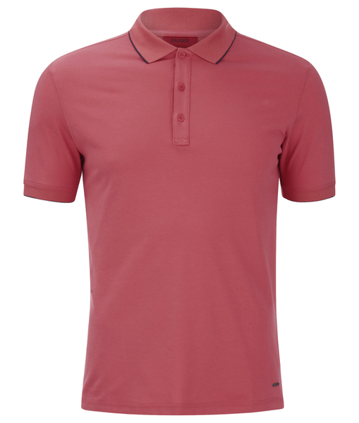 HUGO Men's Delorian Tipped Polo Shirt - Coral