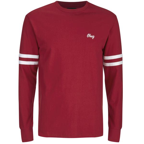 OBEY Clothing Men's Era Long Sleeve T-Shirt - Red Clothing ...