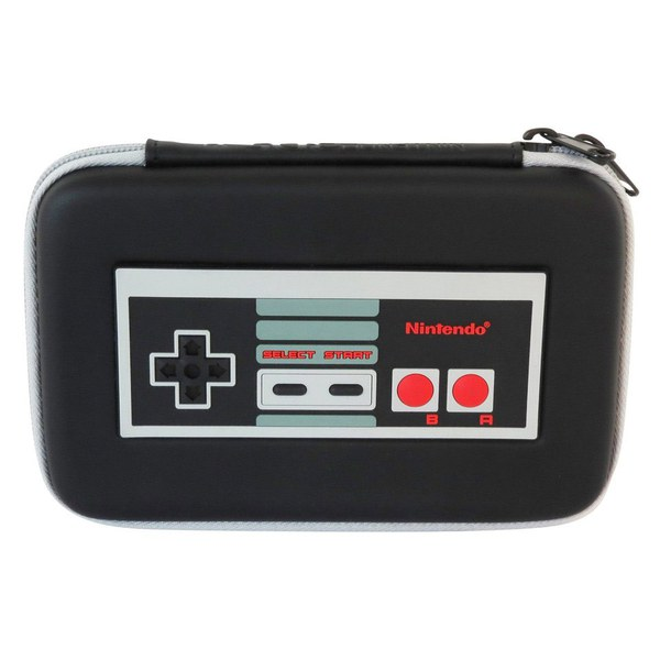 New nintendo 3ds xl metallic black retro nes controller for Housse 2ds pokemon