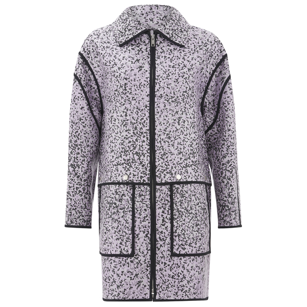 KENZO Women's Laquered Sand Cotton Jacquard Jacket - Glycine