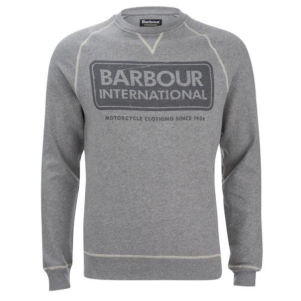 Barbour International Men's Logo Sweatshirt - Grey Marl
