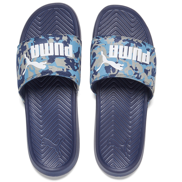 Puma Mens Popcat Camo Slide Sandals PeacoatBlue FREE UK Delivery