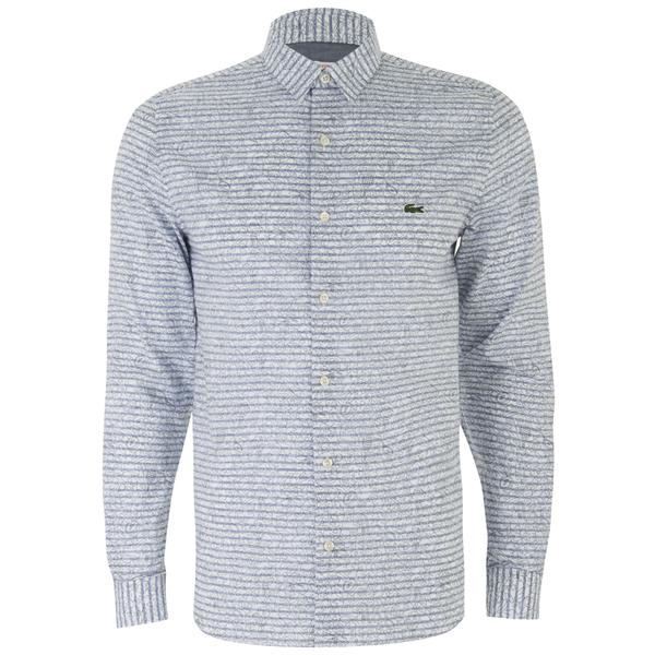 Lacoste Live Men's Poplin Long Sleeve Shirt - Blue