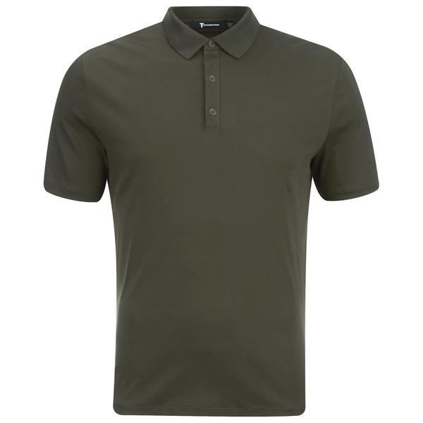 T by Alexander Wang Men's Short Sleeve Polo Shirt - Army