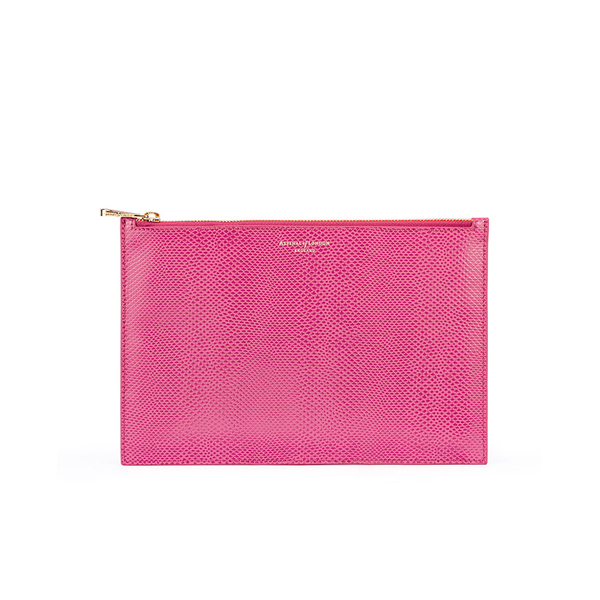Aspinal of London Women's Large Essential Pouch - Raspberry