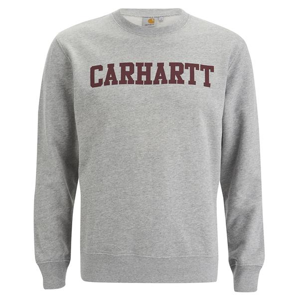 Carhartt Men's College Sweatshirt - Grey/Burgundy