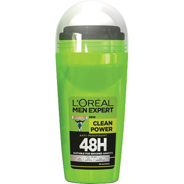 L'Oréal Paris Men Expert Clean Power 48H Roll-on Anti-Perspirant (50ml)